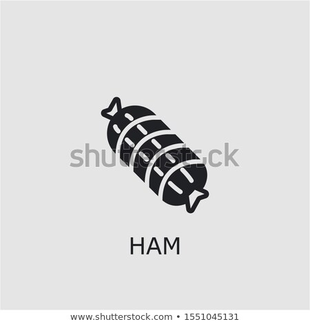 carne · vetor · presunto · fresco · ícone - foto stock © MarySan