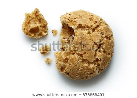 Pequeno amêndoa migalha bolinhos branco Foto stock © Digifoodstock