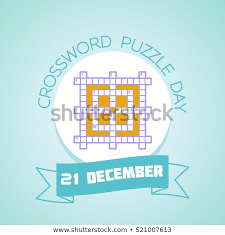 21 December Crossword Puzzle Day Stock photo © Olena