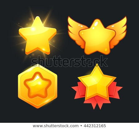 Black shape Game star shape Stock photo © Olena