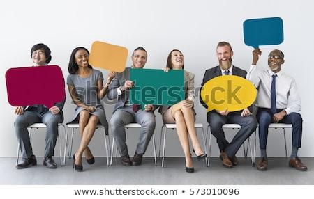 konuşmak · kabarcık · lider · vektör · iş · dizayn - stok fotoğraf © rastudio