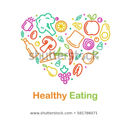 concept of nutrition linear style Stock photo © Olena