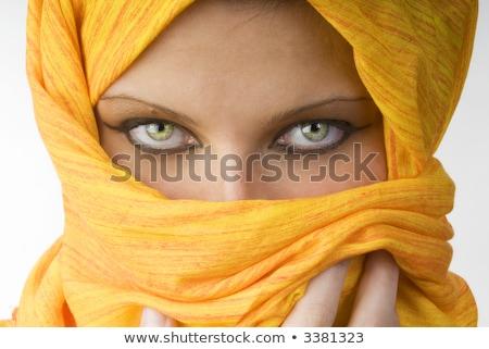 Seducente donna dietro velo bella posa Foto d'archivio © LightFieldStudios