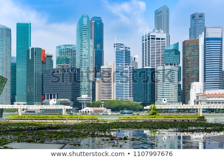 Landmark background with merlion fountain Stock photo © bluering