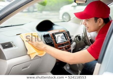 Automático serviço pessoal limpeza carro interior Foto stock © wavebreak_media