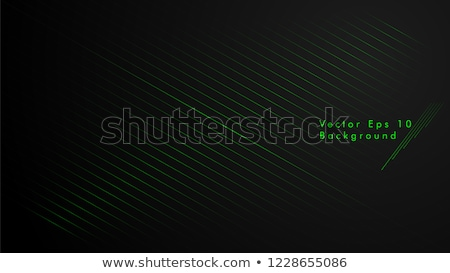 Black and green abstract background with diagonal lines, vector illustration stock photo © kurkalukas