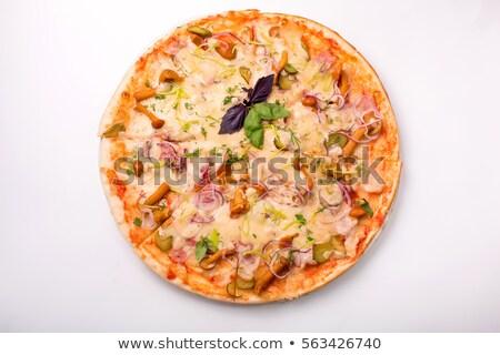 Stock photo: Bacon Alfredo Pizza
