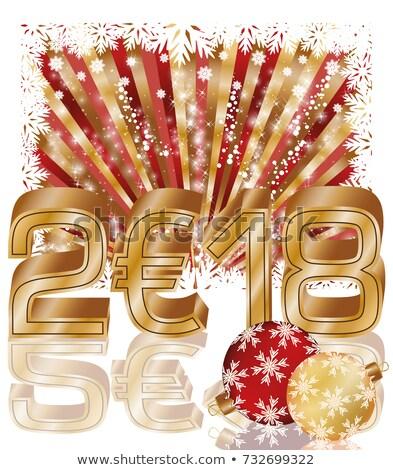 Happy Golden New 2018 euro year, vector illustration Stock photo © carodi
