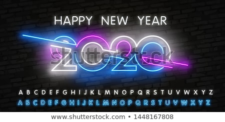 Happy New Year Blue Pink Neon Sign Stock photo © Voysla