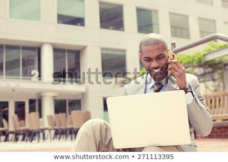 человека за пределами ноутбука технологий городского рабочих Сток-фото © IS2