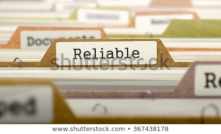 Folder in Catalog Marked as Reliable. Stock photo © tashatuvango