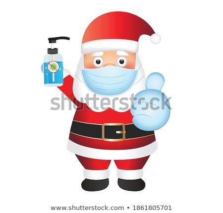 Happy smile Santa Claus isolated on white background vector Illu Stock photo © NikoDzhi