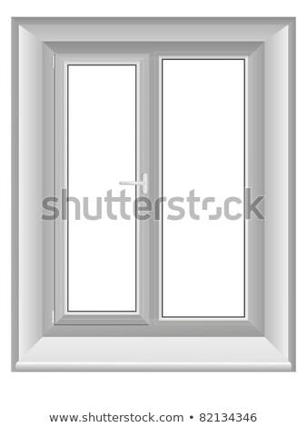 Photo stock: Closed Plastic Window On Blue Wall