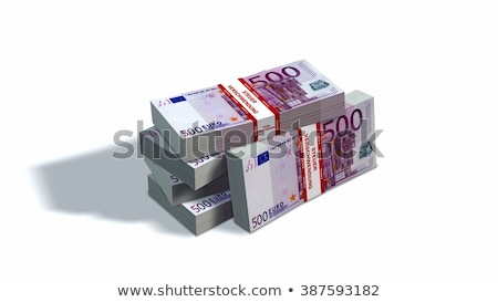 Сток-фото: Packets Of 500 Euro Notes