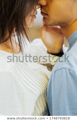 heureux · couple · amour · sourire · jeunes - photo stock © lithian
