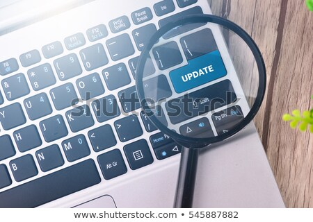 a keyboard with a labeled button   update stock photo © zerbor