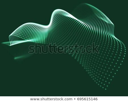 abstrato · onda · verde · estilo · projeto · fundo - foto stock © anadmist