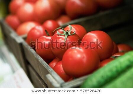 Odak raflar meyve süpermarket alışveriş kaşık Stok fotoğraf © wavebreak_media
