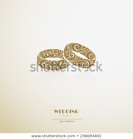 simple decorative wedding rings icons stock photo © blumer1979