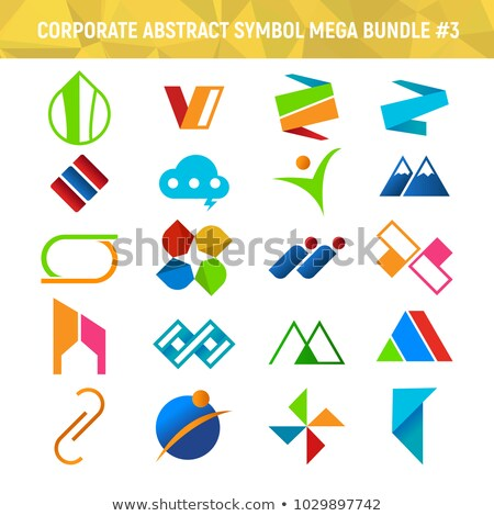 Corporate Abstract Symbol Mega Bundle Pack Design 3 Stock photo © svvell