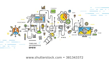option set Icon. line style vector illustration Stock photo © taufik_al_amin