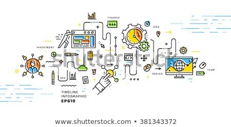 opció · szett · ikon · vonal · stílus · háló - stock fotó © taufik_al_amin