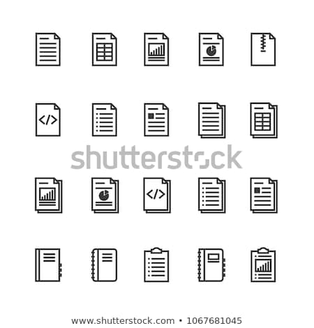 Stock photo: spreadsheet document paper outline icon. isolated note paper icon in thin line style for graphic and