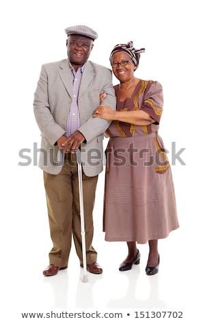 Casal velho africano homem mulher em pé juntos Foto stock © vectorikart