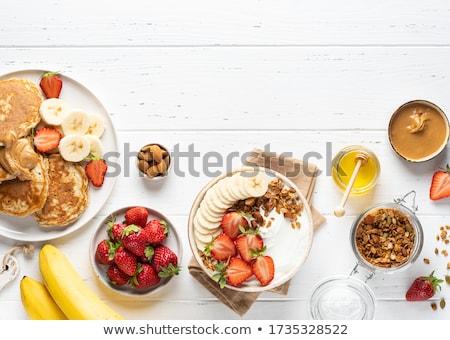 kása · palacsinták · áfonya · reggeli · ebéd · édes - stock fotó © melnyk