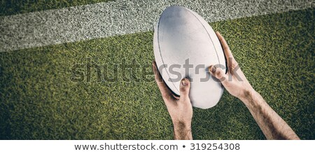 composite image of a rugby player posing a rugby ball stock photo © wavebreak_media