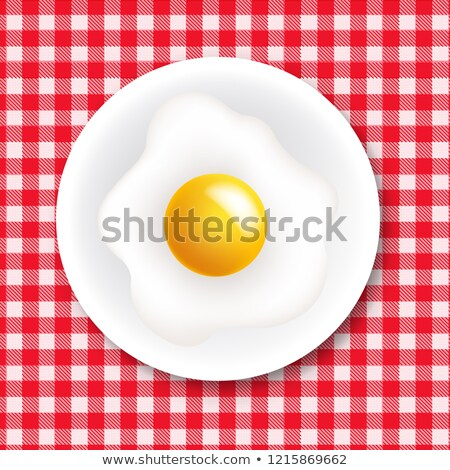 Rouge blanche nappe plaque gradient Photo stock © barbaliss