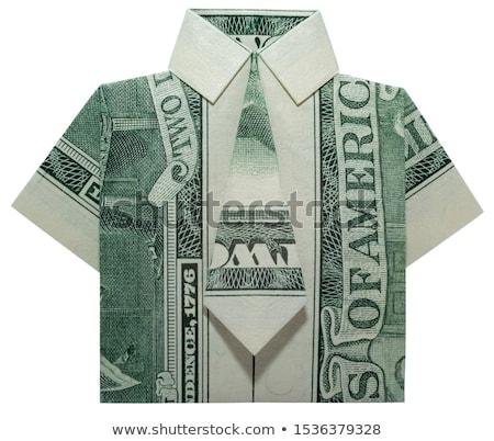 Weiß kurzfristig Shirt Geschäftsleute Geld Set Stock foto © toyotoyo