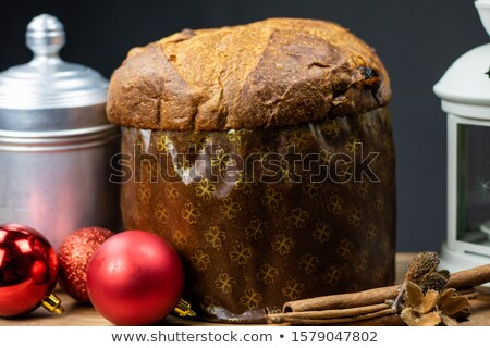 christmas panettone on board Stock photo © M-studio