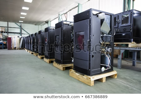 Detalle fábrica primer plano metal industria interior Foto stock © boggy