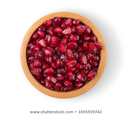 pomegranate seeds isolated on white background stock photo © ungpaoman