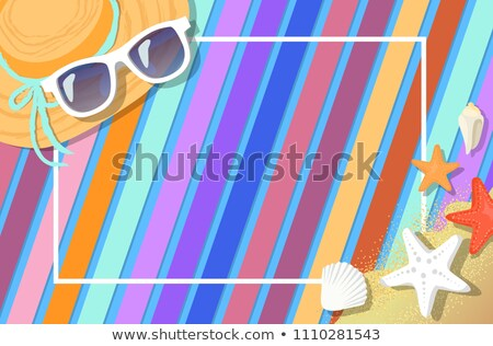 Frame Postcard Design with Summer Attribute Vector Stock photo © robuart
