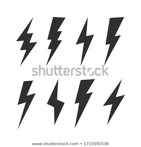 черный Молния изолированный современных свет Сток-фото © kyryloff