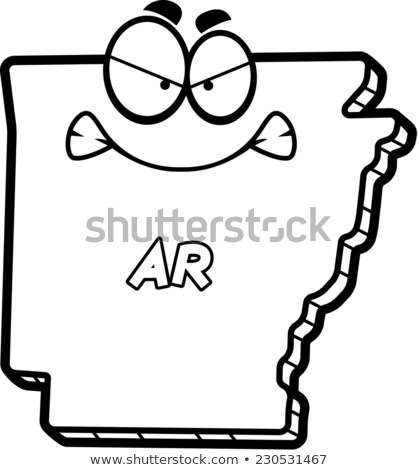 Cartoon Angry Arkansas Stock photo © cthoman