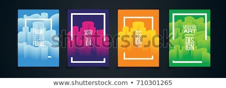 Colorful flow design. Trending wave liquid vector illustration on black Stock photo © m_pavlov
