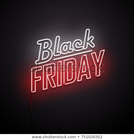 Neon stijl black friday abstract licht ontwerp Stockfoto © SArts
