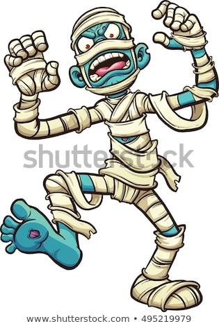angry cartoon mummy stock photo © cthoman