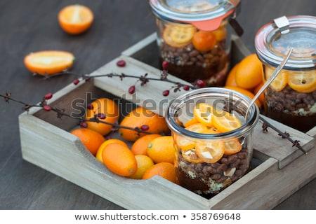 Tejberizs banán csokoládé tál tej puding Stock fotó © Digifoodstock
