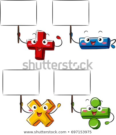 Matemática mascotes ilustração básico operador Foto stock © lenm