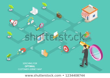 cliente · compra · processo · isométrica · vetor · pessoas - foto stock © tarikvision