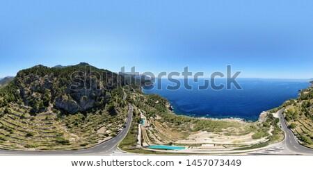 Tengerparti város légifelvétel Mallorca Spanyolország kicsi Stock fotó © amok