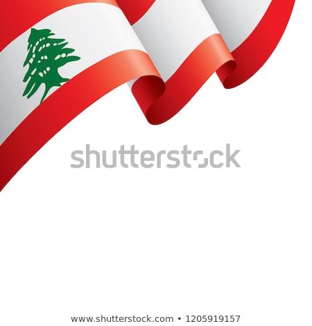 レバノン リボン フラグ 白 デザイン アジア ストックフォト © doomko