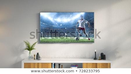 Tv soggiorno vuota schermo moderno stand Foto d'archivio © magraphics