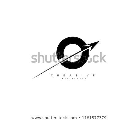 Stock photo: letter o arrow vector logo