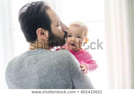 glücklich · jungen · Vater · halten · cute - stock foto © Lopolo