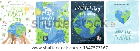 Dia da terra projeto fundo terra assinar plantas Foto stock © colematt